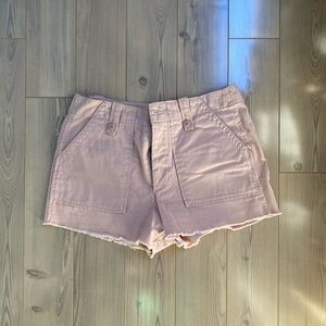 Pale Pink Button Fly Shorts